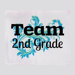 Team 2nd Grade Throw Blanket