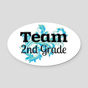 Team 2nd Grade Oval Car Magnet