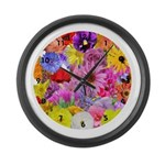 Eileen's Multifloral Large Wall Clock
