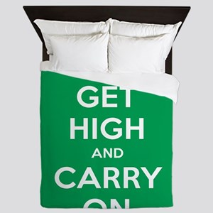 Get High And Carry On Queen Duvet