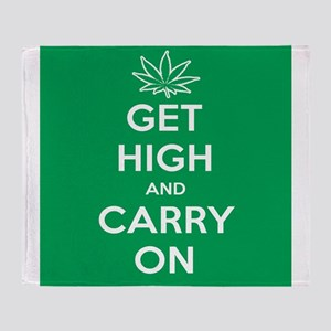 Get High And Carry On Throw Blanket