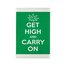 Get High And Carry On Rectangle Magnet