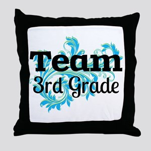 Team 3rd Grade Throw Pillow