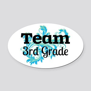 Team 3rd Grade Oval Car Magnet