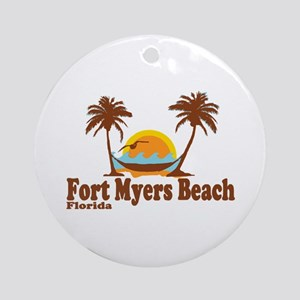 Fort Myers - Palm Trees Design. Ornament (Round)