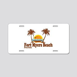 Fort Myers - Palm Trees Design. Aluminum License P