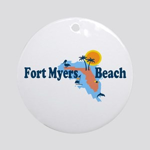 Fort Myers - Map Design. Ornament (Round)