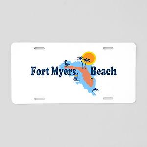 Fort Myers - Map Design. Aluminum License Plate