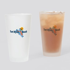 Fort Myers - Map Design. Drinking Glass