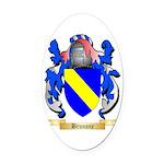 Brunone Oval Car Magnet