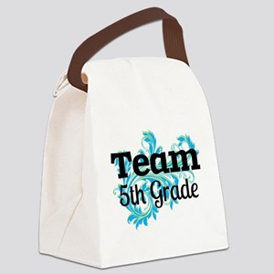 Team 5th Grade Canvas Lunch Bag