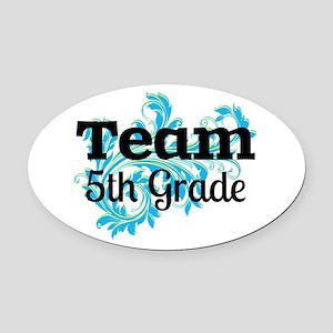 Team 5th Grade Oval Car Magnet