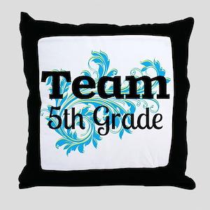 Team 5th Grade Throw Pillow