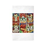Dia de los muertos 3x5 Rugs