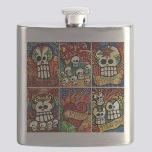 Day of the Dead Sugar Skulls Flask