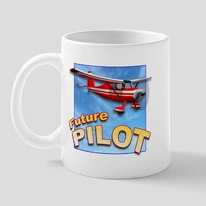 Red Small Plane, Future Pilot Mug