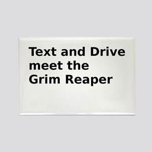 Text and Drive meet the Grim Reaper Rectangle Magn