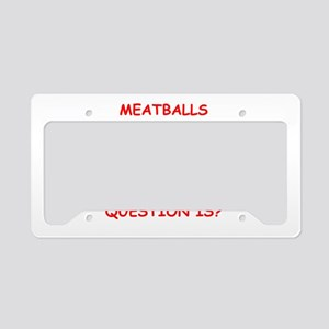 meatball License Plate Holder
