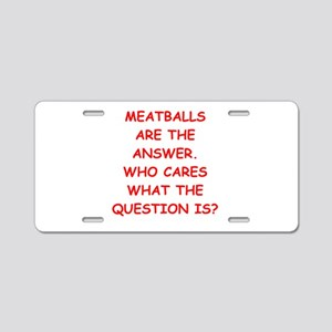 meatball Aluminum License Plate