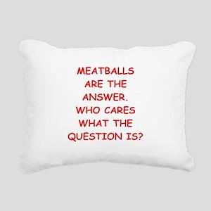 meatball Rectangular Canvas Pillow