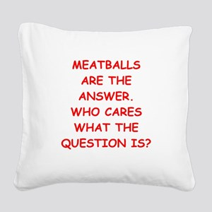 meatball Square Canvas Pillow