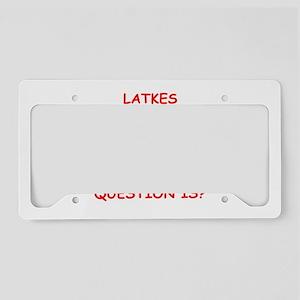 latkes License Plate Holder