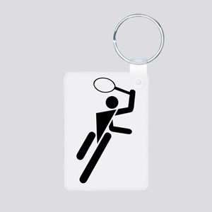 Tennis Silhouette Aluminum Photo Keychain