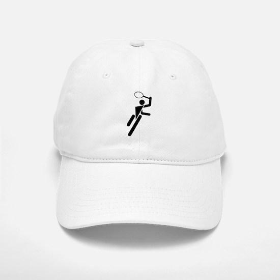 Tennis Silhouette Baseball Baseball Cap