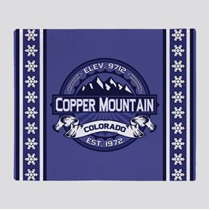 Copper Mountain Midnight Throw Blanket