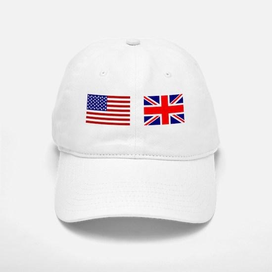 USA / UK Flags Baseball Baseball Cap