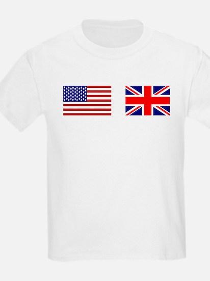 USA / UK Flags Kids T-Shirt