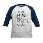 Longhair ASL Kitty Kids Baseball Jersey
