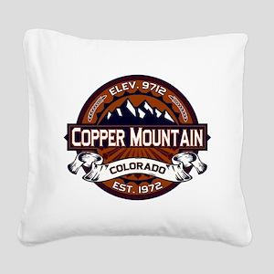 Copper Mountain Vibrant Square Canvas Pillow