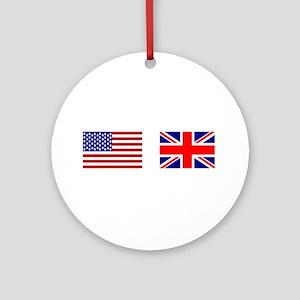 USA & Union Jack Ornament (Round)