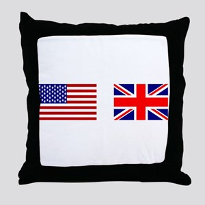 USA & Union Jack Throw Pillow