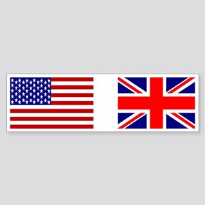 USA & Union Jack Bumper Sticker