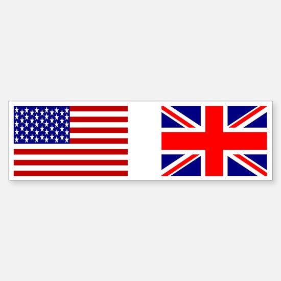 USA & Union Jack Bumper Bumper Bumper Sticker