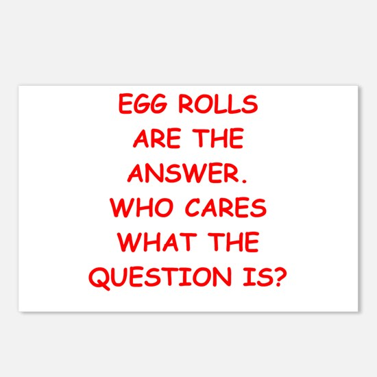 EGG ROLL Postcards (Package of 8)