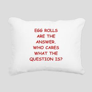 EGG ROLL Rectangular Canvas Pillow