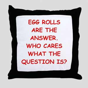 EGG ROLL Throw Pillow