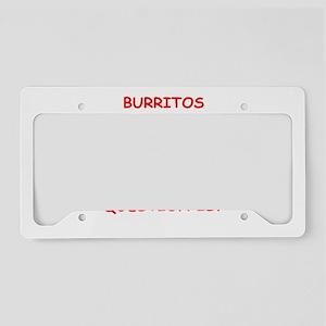 burrito License Plate Holder