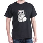 Longhair ASL Kitty Dark T-Shirt