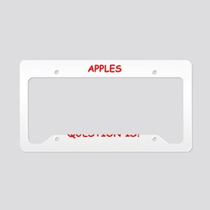 apple License Plate Holder