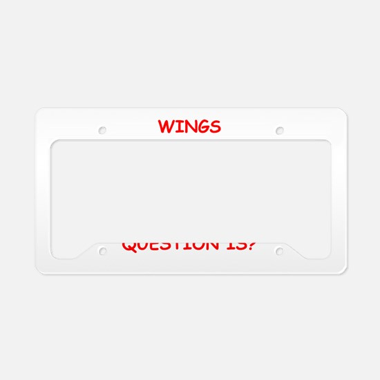 wings License Plate Holder