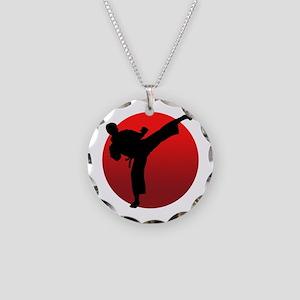 KARATE keri Necklace Circle Charm