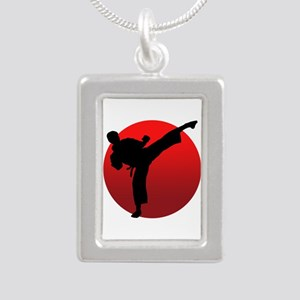 KARATE keri Silver Portrait Necklace