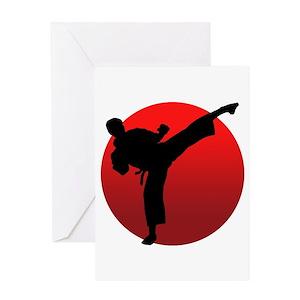 Karate greeting cards cafepress m4hsunfo