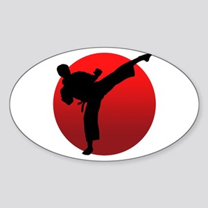 KARATE keri Sticker (Oval)