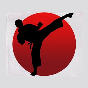 KARATE keri Throw Blanket
