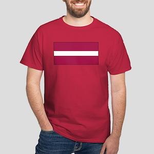 Latvia Latvian Blank Flag Dark T-Shirt